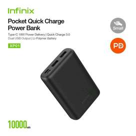 Powerbank infinix XP01 10000 quick charge 3.0 power delivery dual usb