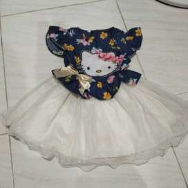 Dress anak Hello Kitty