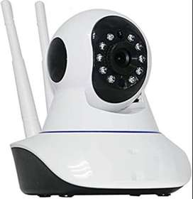 Wireless Security Camera with Double Antenna - White