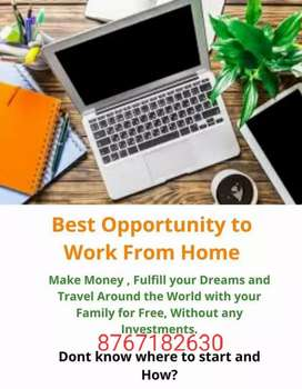 Earn today from simple data entry work at home