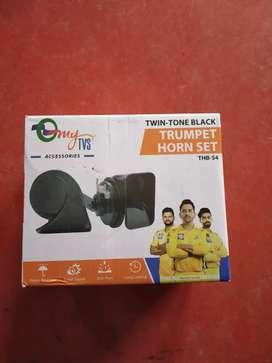 Brand new car trumpet horn set