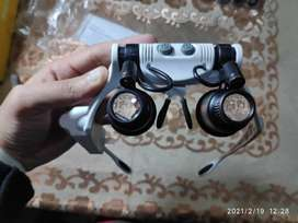 Portable Head Mount Magnifier Glasses with LED - 6X/8X/10X/15X/20X/25X