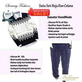 AM00249 Celana Setelan Satu set Sweater dan celana jogger