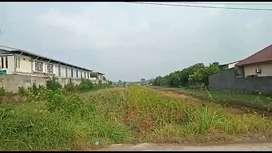 Jual tanah industri 3 - 5 ha lebar depan 36 m di Kuripan dkt Semarang