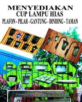 Aneka lampu hias dinding, pilar, gantung, plafon dan taman