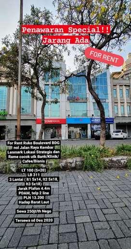 Disewakan Ruko lokasi Premium Strategis di Boulevard BDG Lenmark