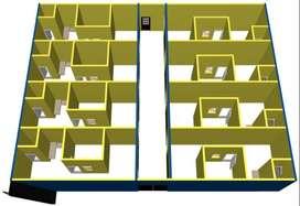 Kontrakan atau Kost 8 Pintu