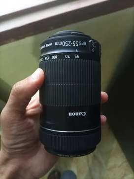 Canon lens 55-250mm and 50mm 1.8