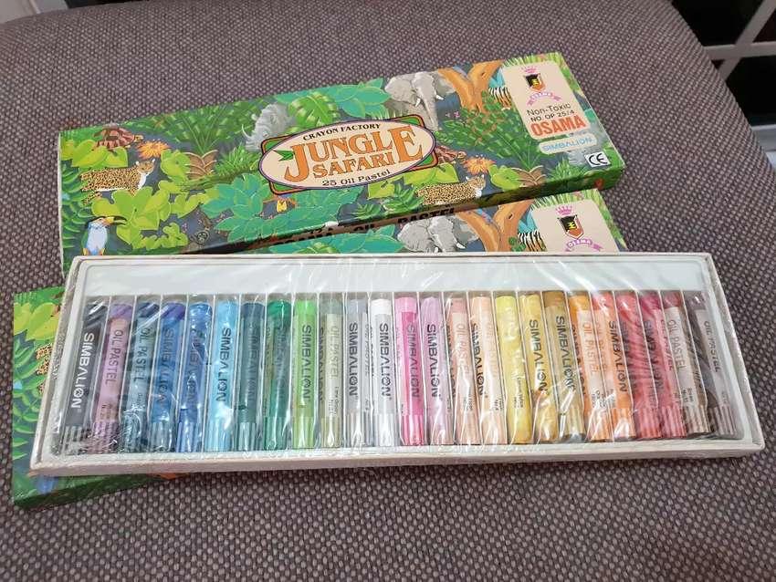 Paket krayon, mewarnai 25 oil pastel 0