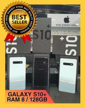 Galaxy S10+ Plus Single Sim Ram 8gb internal 128gb Fullset istimewa