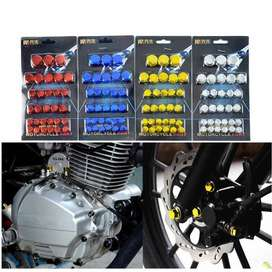 Motorcycle Nuts Covers Bike Bolts Cap Case Decoration Nano Coating
