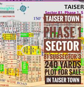 Taiser town plot 240 yards for sale
