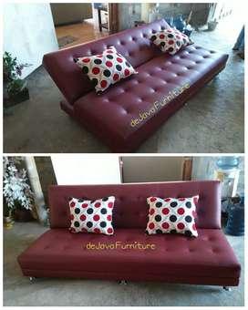 Sofa santai recleaning maroon, bisa custom warna
