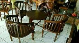 Kursi teras Betawi dudukan1111 kayu jati ajf44
