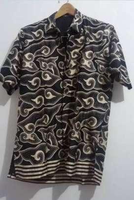 COD Kirim Free - Batik kemeja good size L bahan lembut