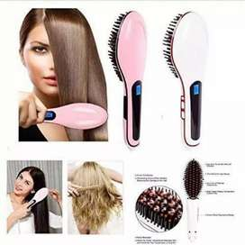 LED Straightening FastSmoothing Electric Hair Brush Ceramic heating
