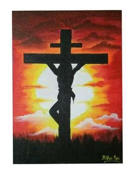 Jesus at Golgotha (Canvas painting)