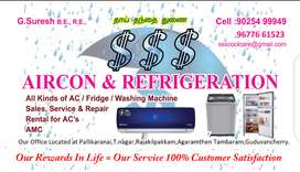 Ac,fridge,washing machine repair,rental and services