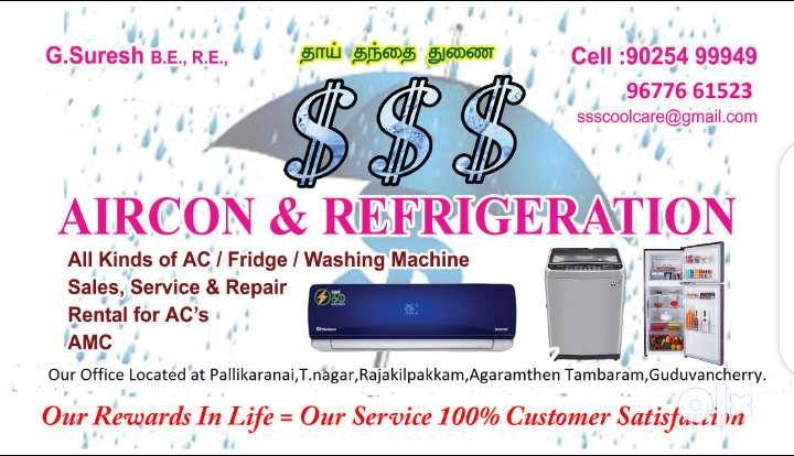 Ac,fridge,washing machine repair,rental and services 0