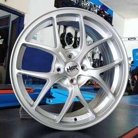 HSR velg racing R17x75 pcd 4x100 silver