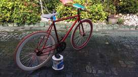 Sepeda Fixie Red&White !!