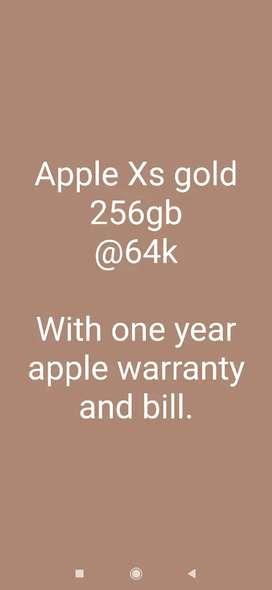 I phone 8 (256) gb ₹30k with One year apple warranty