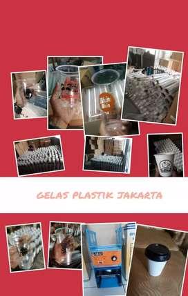 Jual dan sablon Gelas plastik Thai Tea (CUP PLASTIK PP)12oz