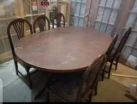 Use 6 Chair Wooden Dinning Table