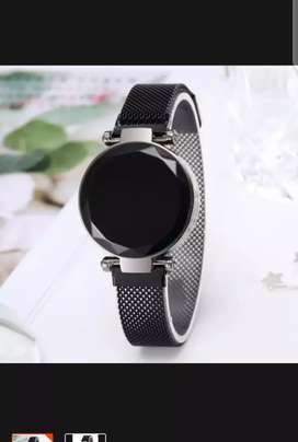 Digital touch Led stylish magnatic watch for girls.