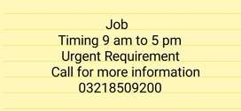 Required female for office receptionist urgent