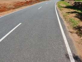 Main road base land sale