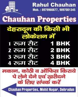 1BHK FLAT;2BHK Flat Gms Road Vasant Vihar  many Options