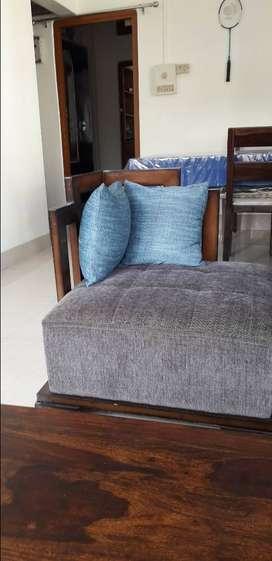 Pair of single seater sofa