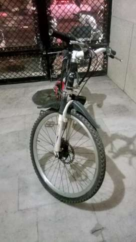 Bicycle with new tires