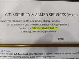 urgent requirement forsecurity guard