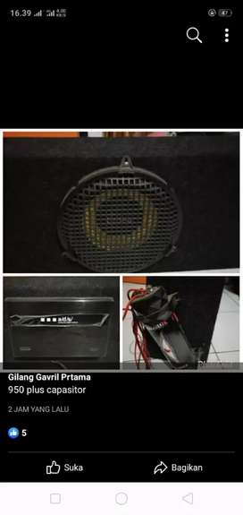 subwoofer satu paket power capasitor no minus