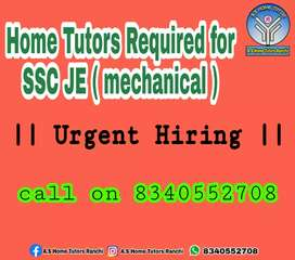 Required a home tutor for SSC JE mechanical
