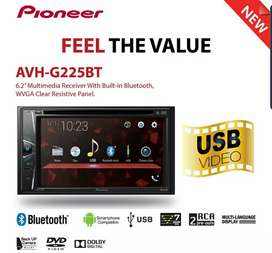 Head Unit Doubledin Pioneer AVH G225BT New