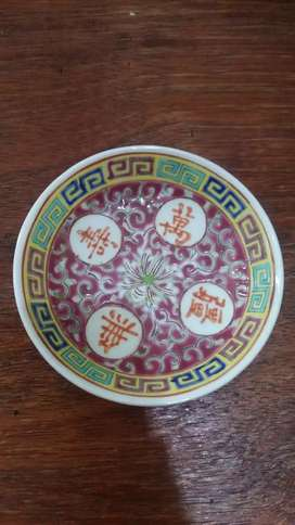 Piring antik kuno family rose keramik cina dinasti qing