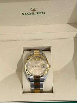 2020 Rolex Date just  2 tone gold stainless