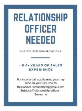 Relationship Officer HDFC BANK