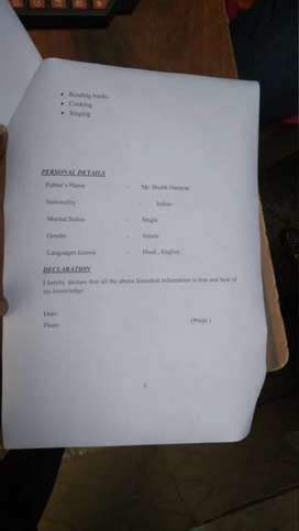 Argent Riqvarmemt for telecaler Dhruv Enterprises