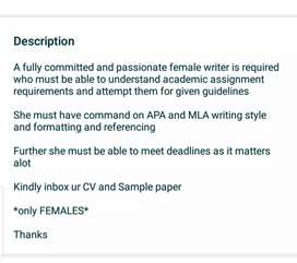 Academic Assignment Writer