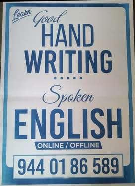 ONLINE N Regular Trainings Class Spoken English and Good HAND WRITING