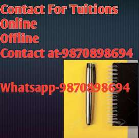 Online As well Offline Tuitions