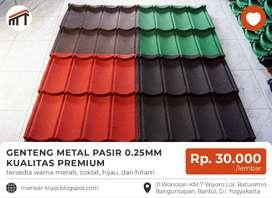 Genteng Metal Pasir Tebal 0.25 mm Kualitas Premium
