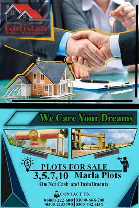 3,5,7,10 Marla Plots available for sale on Net Cash and Rent.
