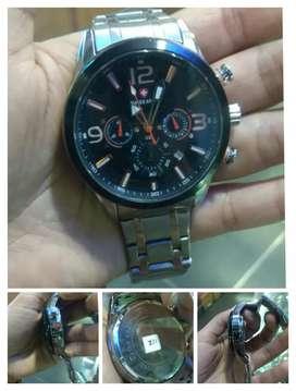 Jual jam tangan pria dewasa#swiss army'stainless chrono on, keren,new
