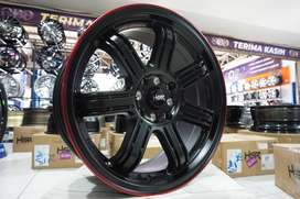 Velg Racing Ring 16x7 HSR SIAK Buat Mobil Mobilio Ignis Brio Agya City