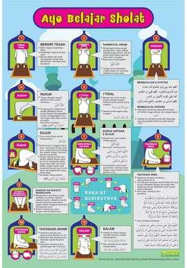 Poster edukasi Belajar Sholat